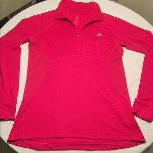 Adidas Hot Pink 1/4 ZIP LS Pullover Activewear